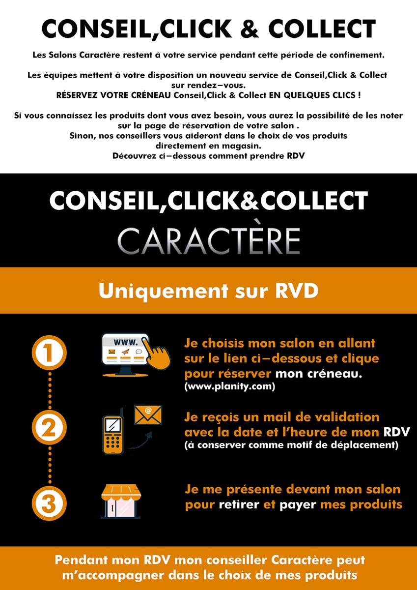 Conseil, Click and Collect chez Caractere